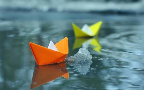 Image de water, boat, and Paper