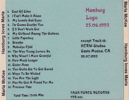Live : Maria McKee - Hambourg - 23 Juin 1993
