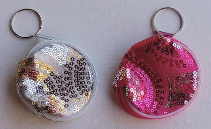 Porte-clés Porte-monnaie zip glitter