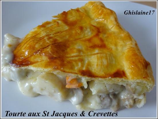 Tourte aux Saint-Jacques & Crevettes