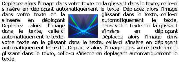 Word 2003 Insérer une image au milieu d'un texte
