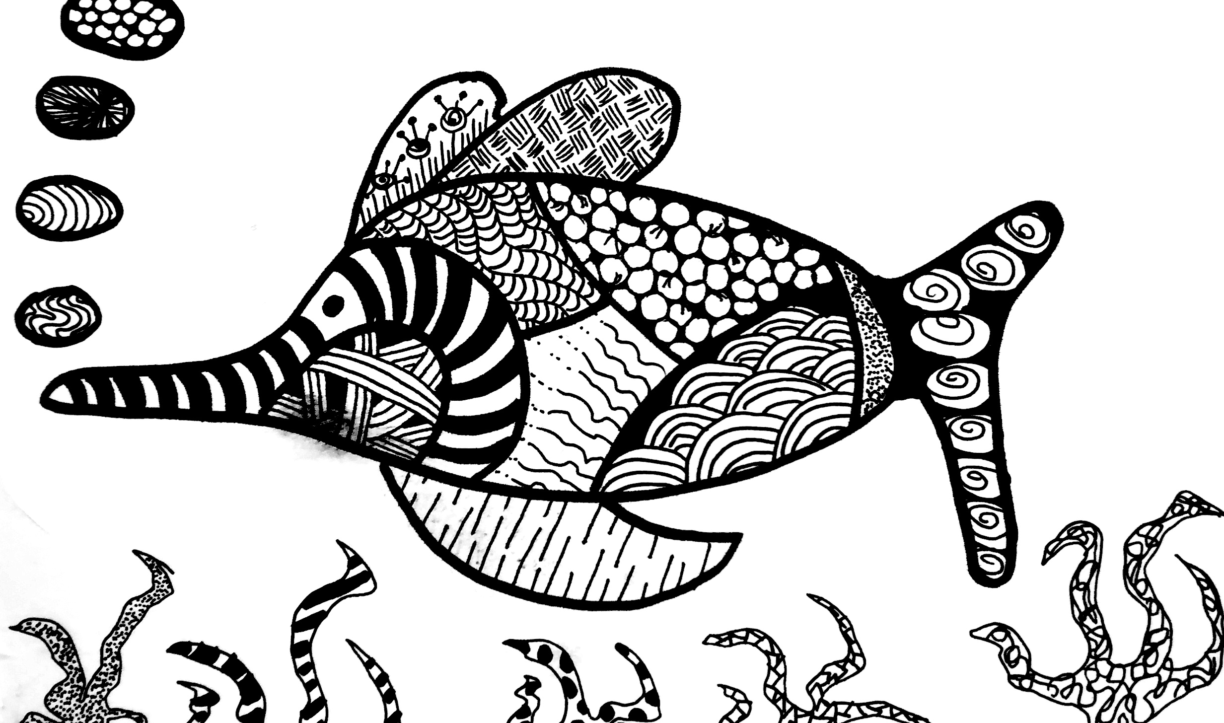 Zentangle poisson