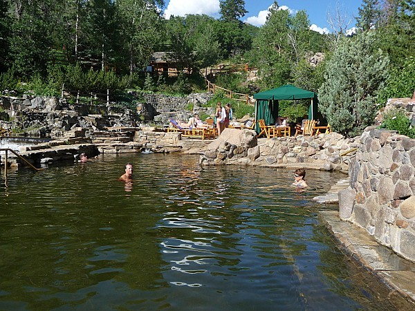 Jour 2 Strawberry Park Hot Springs bain eux