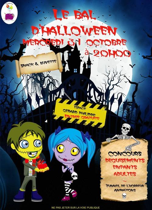 Bal d'halloween de ce mercredi 31 octobre à 20h