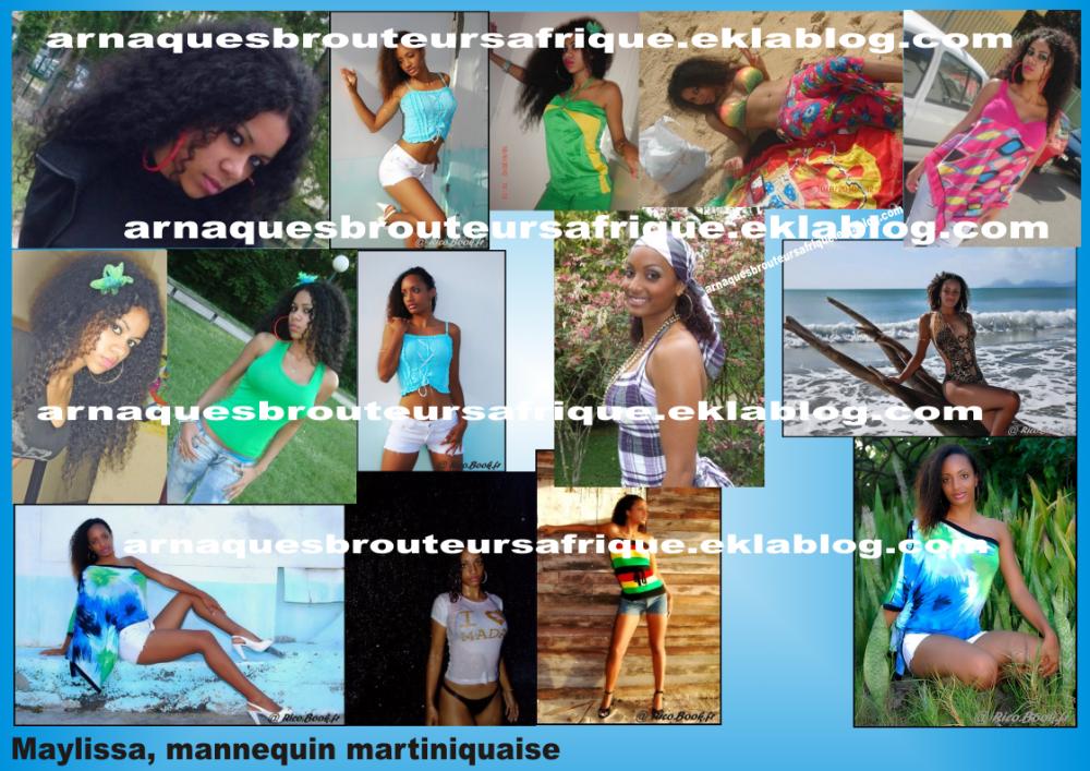 Maylissa - photos volées pas des brouteurs ivoiriens pour arnaquer
