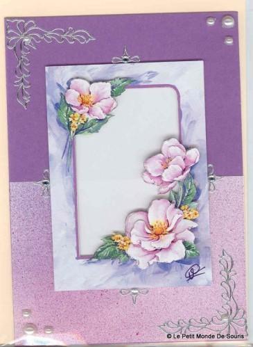 carte 3d fleurs