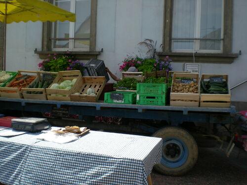 Marché de légumes Bio à Ungersheim tous les vendredis