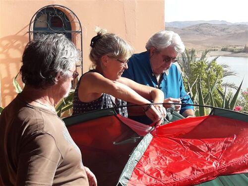 Avec nos amis de Paziols, ex-ouarzazis