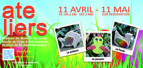 """Maison bois jouet mazamet ATELIERS """"vacances de printemps"""""""