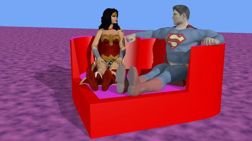 Vue 1 - Sofa en forme de coeur