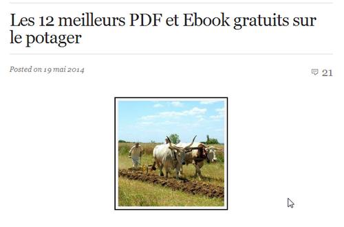 Les 12 meilleurs PDF et Ebook gratuits sur le potager