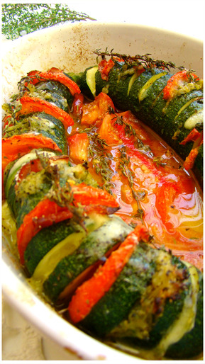 COURGETTE FAÇON HASSELBACK