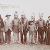 Geronimo and group at Pan-American Exposition, Buffalo, N.Y. 1901. Photo by C.D. Arnold