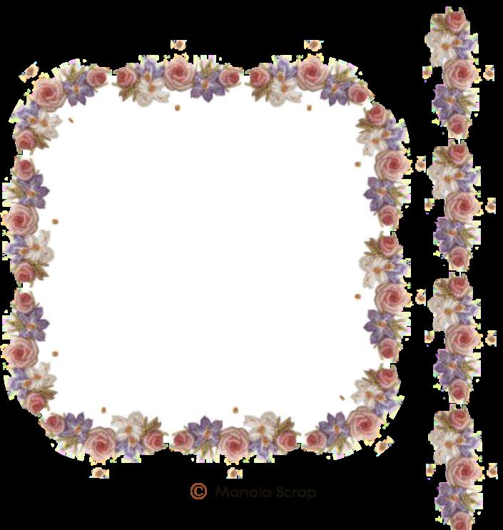 Cadres fleurs page 1