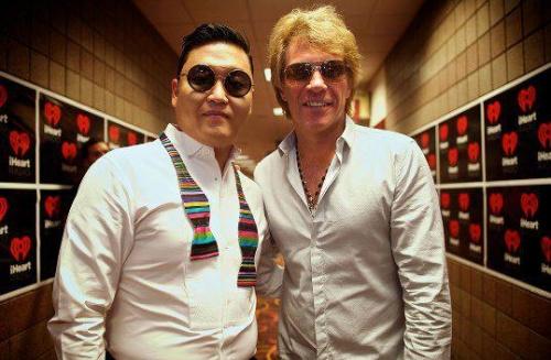 PSY (Chanteur Sud-Coréen du Gangnam Style) & Jon Bon Jovi
