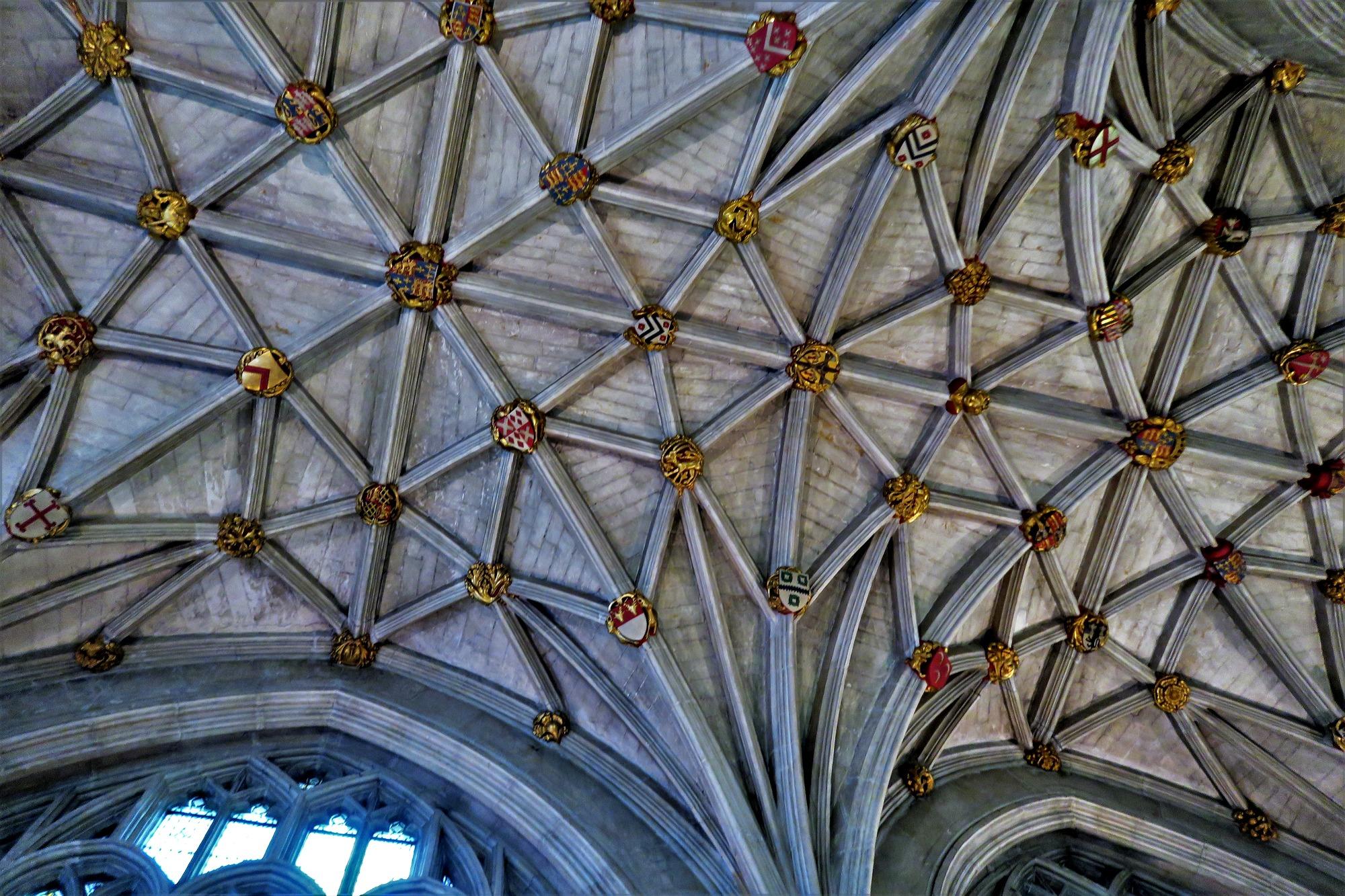 WINCHESTER College. Le plafond de l' Oratoire de Fromond