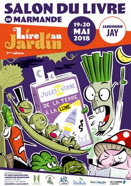 Affiche Salon du Livre 2018 - Marmande, Lot-et-Garonne