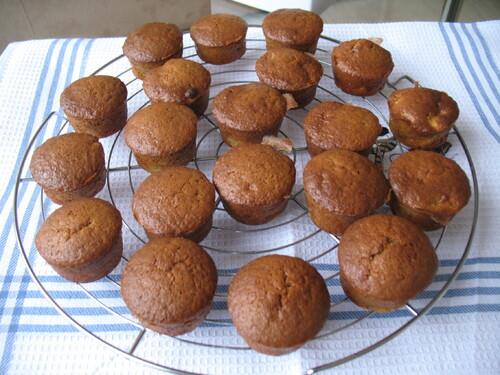 Mini muffins moelleux à la banane