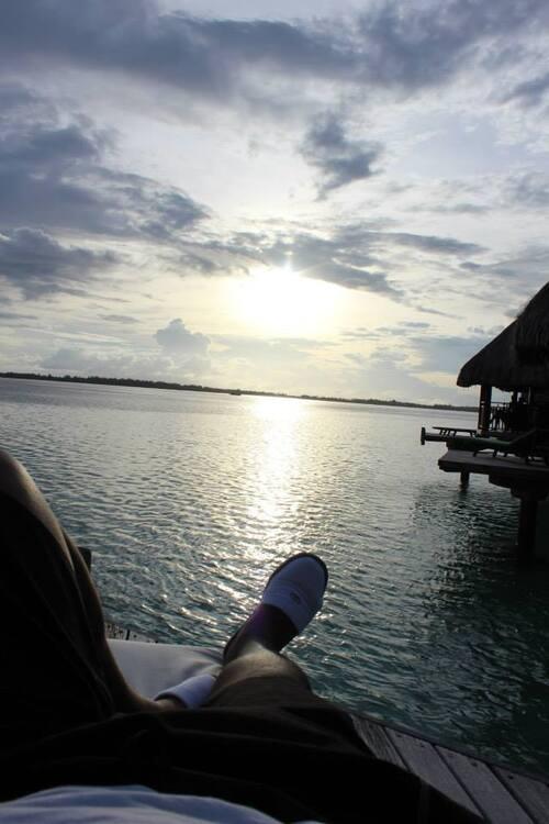 Levée du soleil sur Bora Bora