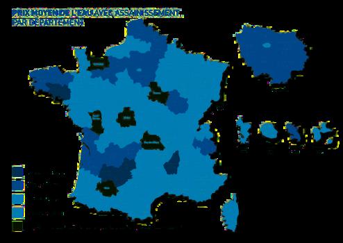 Carte de France du prix de l'eau