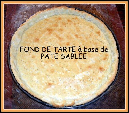 LA PÂTE SABLEE