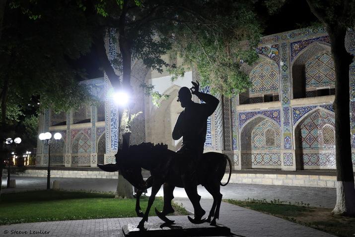 Liab-i-Haouz, Nasr Eddin Hodja sur son âne, Boukhara