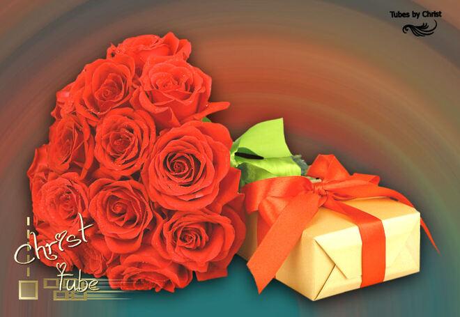 Bouquet Roses Rouge & Cadeau