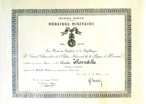 Charles Thorndike, brancardier de la Grande Guerre