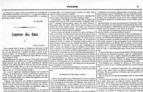 Le Figaro révélait le loyer estival de Napoléon III à Vichy