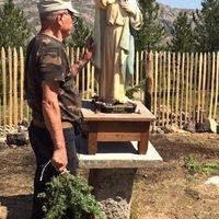 Santu avec le genévrier et san Liséu