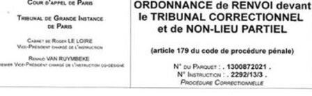 Fin de l'instruction : ordonnance de non-lieu, de renvoi...