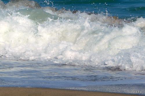 Les vagues de la plage