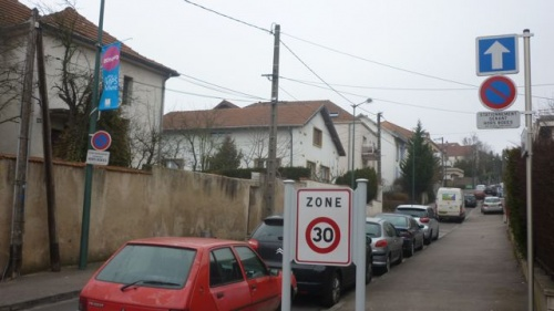 Rue de Tivoli en zone 30