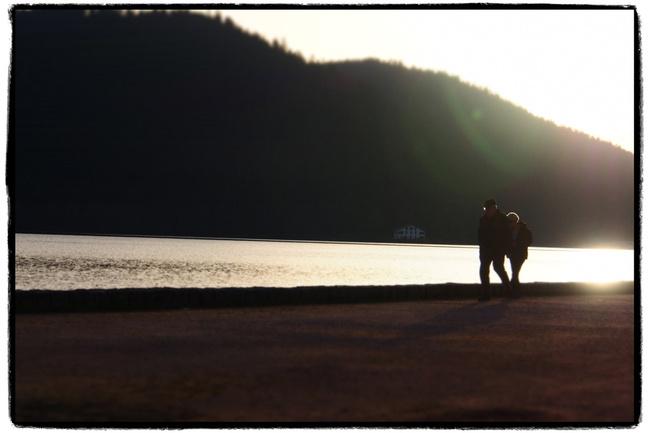 début de soirée au bord du lac (Gérardmer)
