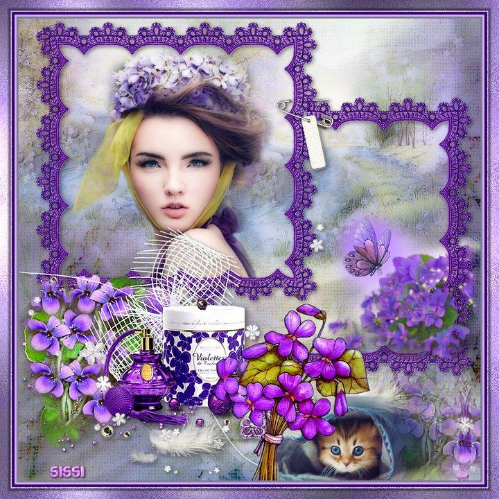 * Nastia  Couleurs Violettes* Atelier de Babouchka*