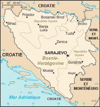 Carte de Bosnie