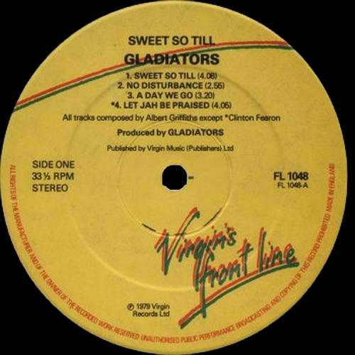"The Gladiators : Album "" Sweet So Till "" Virgin Front Line Records FL 1048 [ UK ]"