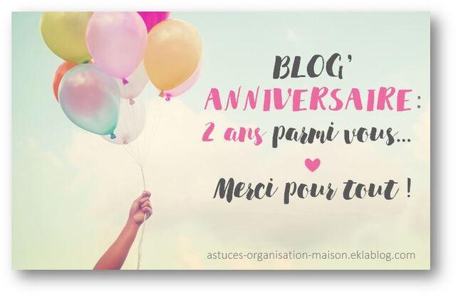✿ Blog'anniversaire : 2 ans parmi vous… !