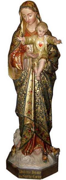 statue de madone polychrome avant restauration - Arts et sculpture: sculpteurs mouleurs