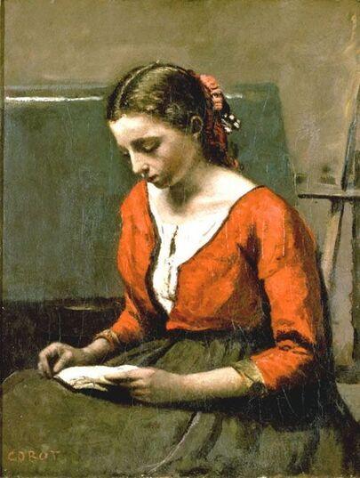 6-Les jeunes filles à la lecture-dans la peinture