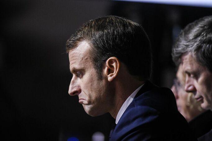 Emmanuel Macron àPont-à-Mousson (Meurthe-et-Moselle), le5novembre.