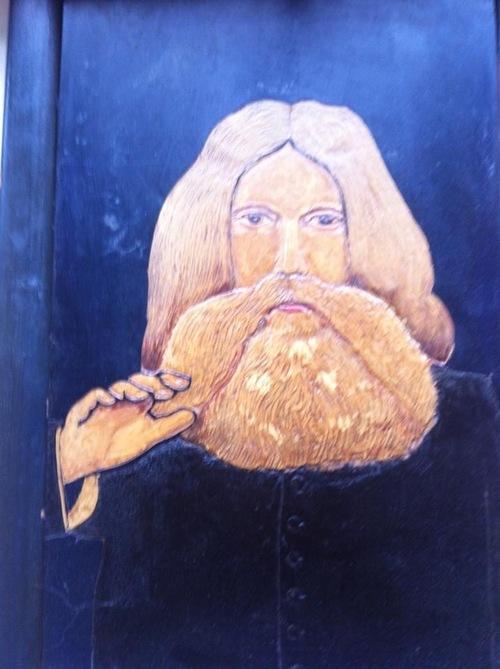 Tableau représentant le Père Antoine (trouvé sur une brocante à Liège)(photo Facebook Serge Miot)