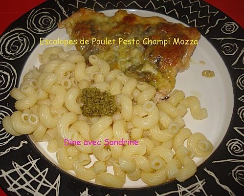 Escalopes de poulet Pesto Champi Mozza 5