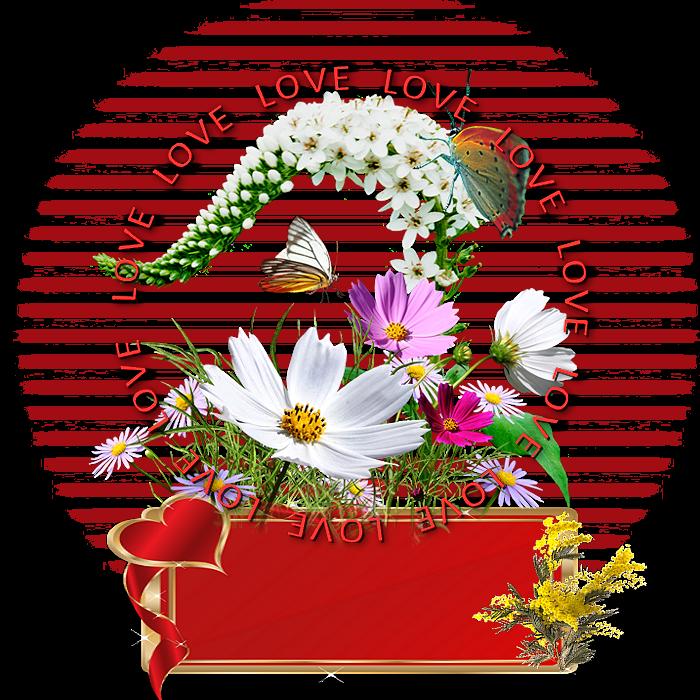 Fleurs de la st Valentin a personnaliser