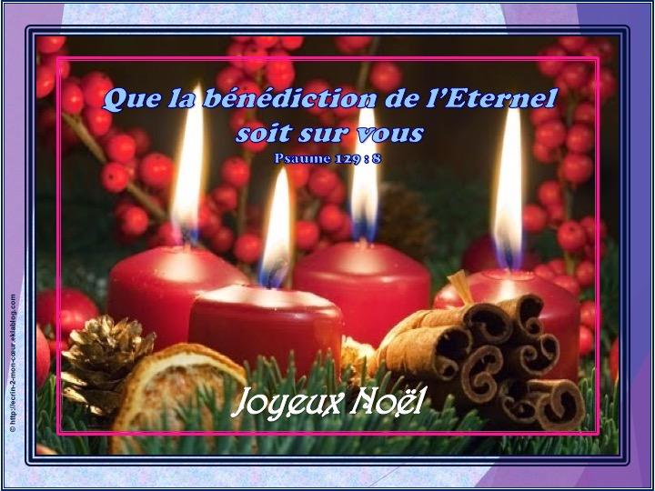 Joyeux Noël - Psaumes 129 : 8