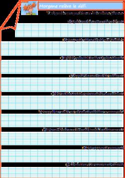 Fichier + évaluation (Morgane relève le défi)