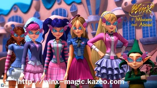 Les Winx Fairy College et Wizgiz