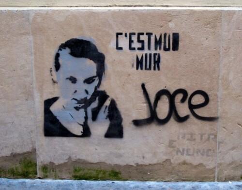 street-art Pitr pochoir c'est mon mur Paris