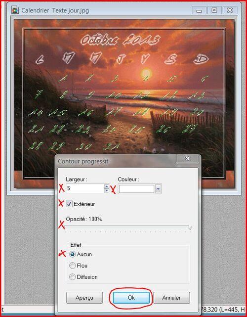 Etape 78 Comment faire un calendrier avec photofiltre