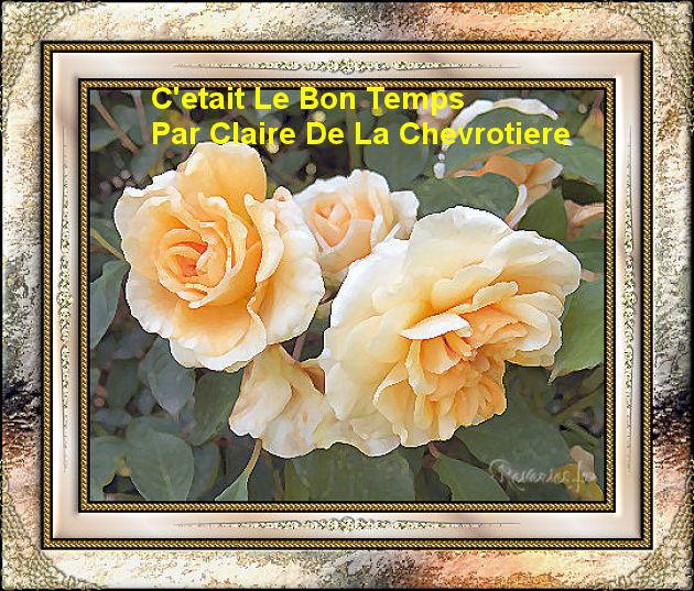 C'etait Le Bon Temps   Par Claire De La Chevrotiere